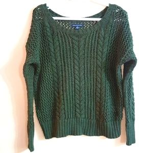American Eagle Cable Knit Drop Shoulder Sweater